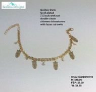 'Golden Owls' bracelet