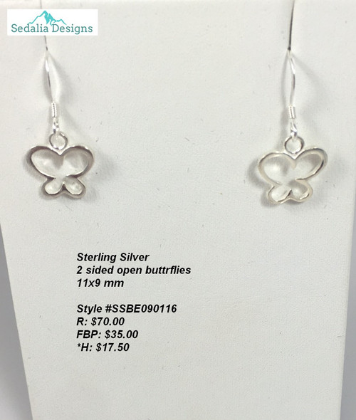 Sterling Silver Butterflies