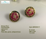 Trendy Rose earrings