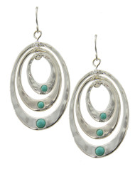 "resell for 30.00 or more  Silver Plated / Lt.green Acrylic / Lead, Nickel & Cadmium Safe / Metal / Fish Hook (earrings) / Graduating / Oval / Earring Set  •   WIDTH X LENGTH : 7/8"" X 1 3/4""  •   SILVER"