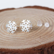 small snowflake post earrings