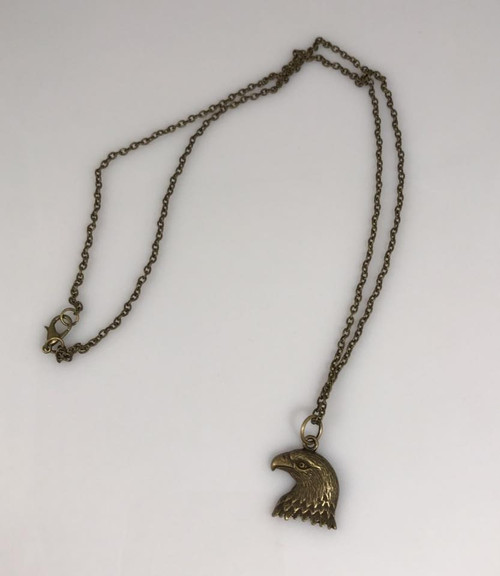 Resell for 12.00 or more 24 inch antiqued brass chain  Antiqued brass eagle pendant  Unisex Style #BEN100917g