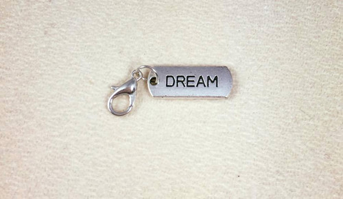 resell for 6.00 or more Dream, pewter, lobster clasp charms for bracelets, necklace or zipper pulls Style #DB101317g