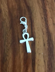 Resell for 6.00 or more Pewter anhk cross Lobster clasp bauble Style #PAB110417g  used in ancient Egypt as symbol of life