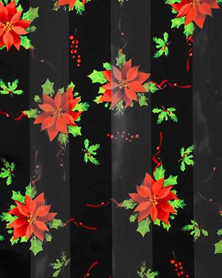 """**This purchase will also donate 1 scarf with earrings to a cancer patient**  9 available 6.00  Black / 100% Polyester / Flower / 13x60 Satin Stripe: Christmas Poinsettia / Style #PS110417g  BE SURE TO PUT """"SCARF"""" IN THE SEARCH....WE HAVE DOZENS TO CHOOSE FROM STARTING AT 6.00 AND EACH GIVES BACK!"""