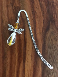 Resell for 9.00 or more Pewter bookmark Yellow glass angel Style #GAB112117g
