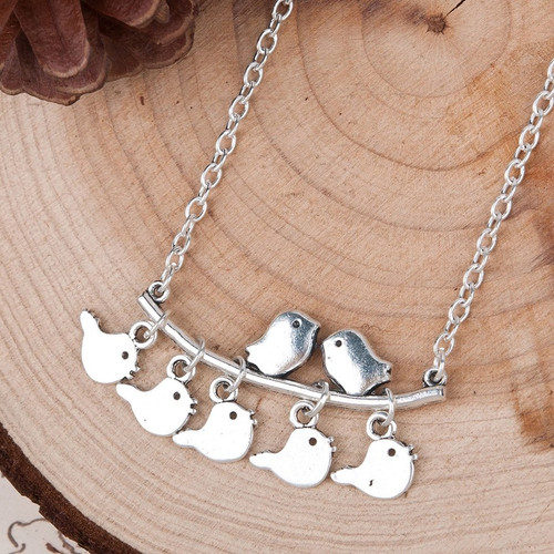 """resell for 9.00 or more Antique Silver & Silver Plated Mother Bird Branch 44.5cm(17 4/8"""") long Style #BFN120817g"""