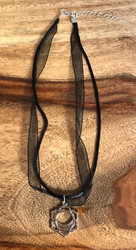 Resell for 9.00 or more Pewter yoga healing pendant 16 inch organza w ext chain Svadhisthana Style #SVAYN121317g
