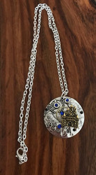 Resell for 15.00 or more Steampunk gear crystal castle 20 inch silver tone chain Style #SPBCN121517g