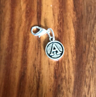 Resell for 6.00 or more Lobster clasp bauble  Aprox 12 mm  Pewter charm letter A Style #LAB021418g