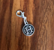 Resell for 6.00 or more Lobster clasp bauble  Aprox 12 mm  Pewter charm letter H Style #LHB021418g