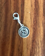 Resell for 6.00 or more Lobster clasp bauble  Aprox 12 mm  Pewter charm letter S Style #LSB021418g