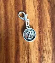 Resell for 6.00 or more Lobster clasp bauble  Aprox 12 mm  Pewter charm letter Z Style #LZB021418g
