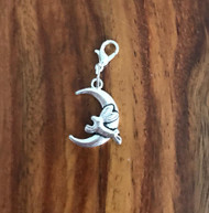 Resell for 6.00 or more Pewter bunny jumping moon Lobster clasp bauble charm  Easter jewelry Style #BJMB030818g