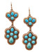 "resell for 21.00 or more Burnished Copper Tone / Turquoise Stone / Lead Compliant / Metal / Fish Hook / Dangle / Earring Set /  •   WIDTH X LENGTH : 1 1/4"" X 3 13/4  •   COOPER/L.BLUE  Style #CTDE032618g"