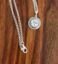 Resell for 12.00 or more Silver drusy Pewter bezel 18 inch silver tone chain Style #SDN041218