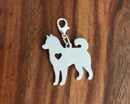 Resell for 12.00 or more Husky dog  Stainless steel Can be engraved Lobster clasp bauble charm Style #EHBC041318