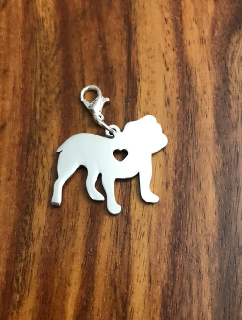 Resell for 12.00 or more Bulldog / lobster clasp/ stainless steel Engrave-able Style #EBDBC041318