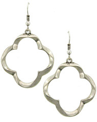 "resell for 18.00 or more Burnished Silver Tone / Lead&nickel Compliant / Metal / Fish Hook / Dangle / Earring Set  •   WIDTH X LENGTH : 1 1/4"" X 2 1/4""	 •   SILVER  Style #OCE041618"