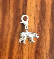 Resell for 9.00 or more 3D pewter bear lobster clasp bauble charm Style #BB050318
