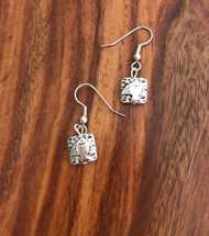 Resell for 6.00 or more Pewter fish charm Surgical steel ear wires Style #PFE050918g