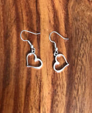 Resell for 5.00 or more  Peter open heart  Surgical steel ear wires Style #OWHE051818g