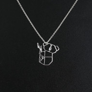 """resell for 12.00 or more Origami Necklace Silver Plated Koala Bear 42.5cm(16 6/8"""") long Style #OKN060118"""