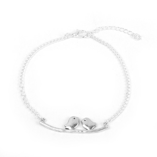 """resell for 9.00 or more Anklet Antique Silver Bird Animal 21.8cm(8 5/8"""") long Pewter. Style #BA060118"""