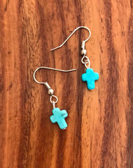 Resell for 6.00 or more Turquoise magnesite earrings Surgical steel ear wires Style #TMCE080218