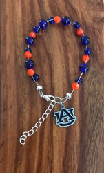 "Resell for 40.00 or more  7.5"" plus ext chain floating bracelet Official licensed Auburn University charm. Made by Ashley Style #AUOB080718"