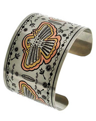 "resell for 18.00 or more  Tri-tone / Lead Compliant / Metal / Animal / Eagle / Cuff Bracelet  •   SIZE FREE : CUFF •   DIAMETER : 2 5/8"" •   WIDTH : 1 3/4""  •   TRI TONE Style #ECB081718"