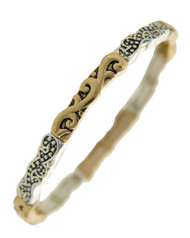 "resell for 27.00 or more Antique Gold & Antique Silver Tone / Lead Compliant / Metal /  Stretch / Filigree / Bracelet  •   SIZE FREE : STRETCH •   DIAMETER : 2 1/2"" •   WIDTH : 3/16""	 •   SILVER/GOLD  Style #TTSB082218"