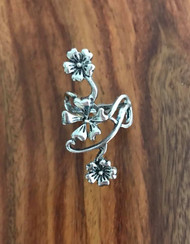 Triple flower ring size 7.5 Pewter Style #TFPR082618