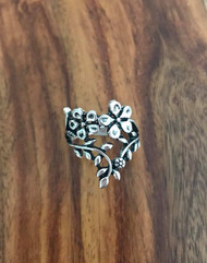 Pewter floral ring size 7 Style #FR082618