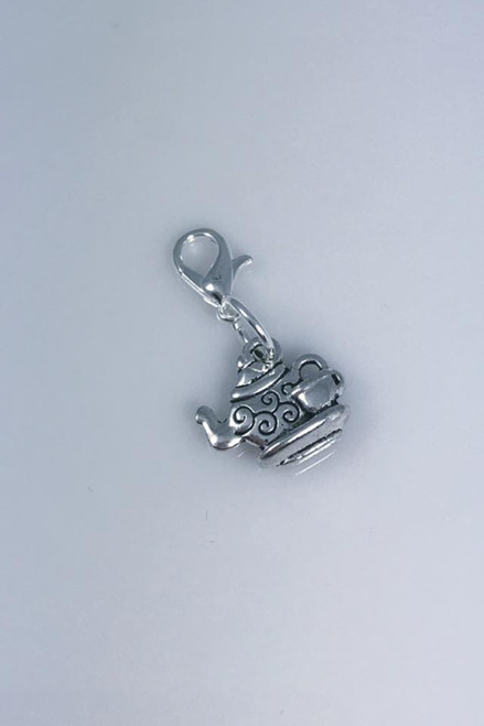 Resell for 6.00 or more  Pewter teacup Lobster clasp bauble Style #TPB091518