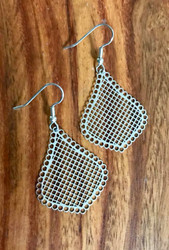 """Resell for 10.00 or more Laser lace stainless steel earrings Light weight Surgical steel ear wires  1 3/8 x 1 1/8"""" Style #LLMTE091718"""