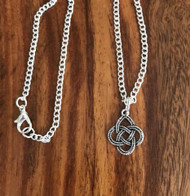 "Resell for 9.00 or more 18"" silver tone chain  Pewter Celtic knot Style #CKN092418"