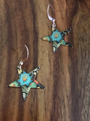 Resell for 9.00 or more Enameled copper star Copper earwires Style #FSCE092518