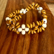 "Resell for 9.00 or more 7 inch stretch bracelet  1"" wide Two tone wood Style #TTWSBSF100518"