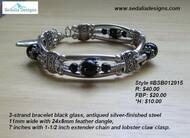 Black and Pewter Boho Bracelet