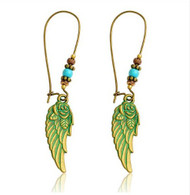 """resell for 18.00 or more Patina Rose Wing Earrings 2.5"""" long Style #AWRPE102918"""