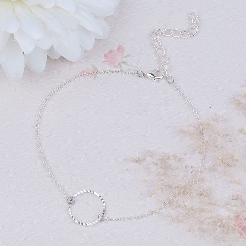 """resell for 9.00 or more 8 7/8"""" plus ext chain dainty ankle bracelet  plated copper Style #PCA110618"""