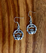 Resell for 12.00 or more Claddagh earrings  Pewter/ surgical steel ear wires  Love loyalty friendship Style #CE111518