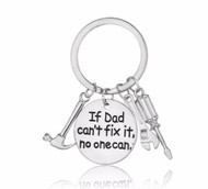 """resell for 15.00 or more """"If Dad Cant't Fix It,No One Can"""" Hammer Wrench Screwdriver/ father/ dad gift/ key chain Style #DCF112118"""