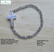 Fancy cross bracelet