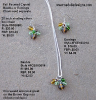 Fall Faceted Crystal bauble