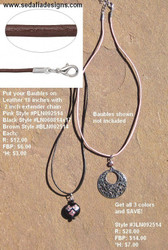 Leather Necklace - black