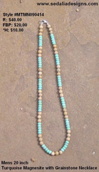 Men's Turquoise Necklace