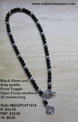 Open cross front toggle Necklace