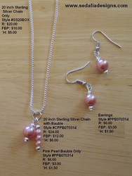 Blushing Beautiful Pink Bauble & Earrings